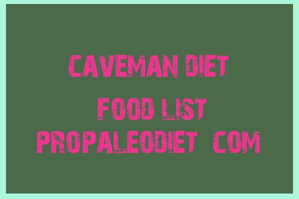 Caveman Diet Foods